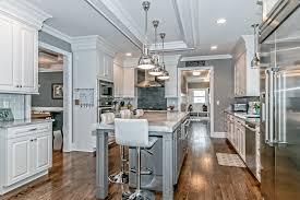 White Gray Kitchen Cabinets Gialluisi Custom Homes