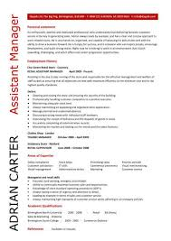 Retail Assistant Manager Resume By Andrian Carter ...
