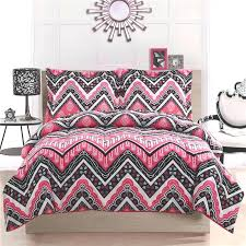 queen size teenage bedding girl teen kid zigzag chevron black white pink twin full home remodel