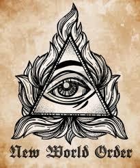 Fototapeta Vševidoucí Oko Pyramidy Symbol Nový Světový řád Ručně Kreslená