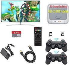 Buy Gamebound Super Console X Pro HDMI TV Retro Videogame Player, Built-in  41,000 + Games,2 Wireless Gamepads (PRO-128G) Online in Taiwan. B092Q4Z5PC