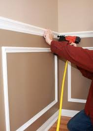 how to install chair rail nailing