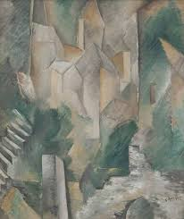 the church of carrières saint denis 1909 by georges braque oil