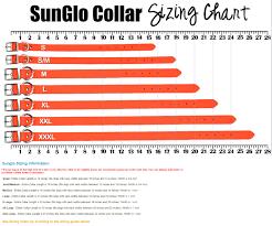 Puppy Collar Size Chart Sunglo Waterproof Dog Collars No Stink Waterproof Dog