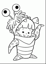 Small Picture Monsters University Coloring Pages For Kids Mike Sulley And Boo