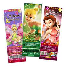 Tinkerbell Invitations Printable Tinkerbell Fairies Birthday Party Invitation Ticket Invites Printable Cards Custom 1st First Fairy Fairies Digital File