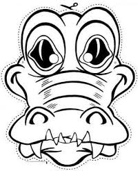 Caiman Masks For Kids Crocodile Mask Colouring Pages Page 2