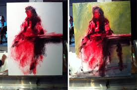 these are oil paintings all wet on wet alla prima there s no preliminary drawing just blocking in with fairly fat brushes