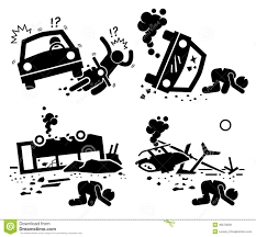 Road traffic accident clipart