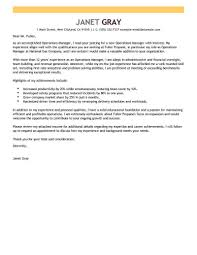 Technical Manager Cover Letter Outstanding Operations Manager Cover Letter Examples Templates