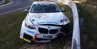 BMW Convertible bmw m235i race car : BMW M235i Racing Crashed on the Nurburgring on Saturday ...
