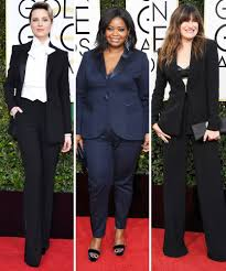 the pantsuit fashion trend at the 2017 golden globe awards the pantsuit fashion trend at the 2017 golden globe awards instyle com