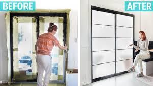 simple diy sliding glass door