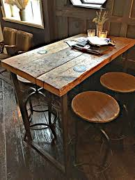 each table is handmade for each and every customer made from reclaimed timber and heavy duty 50x25mm steel the top is made from solid 2 1 2 thick timber