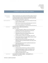 Medical Surgical Nursing Resume Sample Sample Charge Nurse Resume Resumes Project Medical Surgical 43