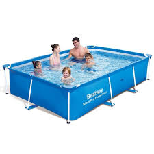 rectangle above ground pool sizes. 300x201x66cm Blue Bestway Pool Frame Swimming Garden Family Above Ground Pools | EBay Rectangle Sizes I