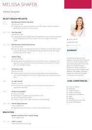 Interior Designer Resume Examples Resume Interior Design Resume Sample 8