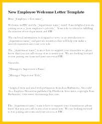 Announcement Letter Samples Sample Welcome Letter New Employee