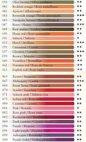 Caran Dache Supracolor Color Lightfastness Chart Part