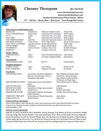 Acting Resume Templates Brilliant Acting Resume Template to Get Inspired 62