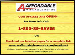 Many factors go into the cost of your auto insurance policy, including how you purchase the policy: Our Office Locations A Affordable Insurance Agency