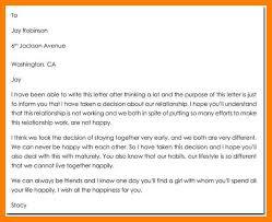 Emotional Goodbye Letter To Girlfriend Sample Breakup Letter To