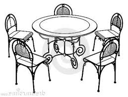 chair clipart black and white. pin furniture clipart dinner table #6 chair black and white