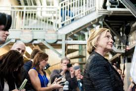 hillary rodham clinton toured on friday the tynose brewing company in hampton n h where
