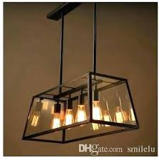 industrial bar lighting. Attic Light Fixture Chandelier Retro Industrial Black Iron Glass  Rectangular Living Room Restaurant Bar Lights Covers Lighting D