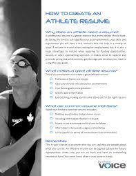 athlete resumes