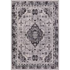 nicole miller starlight medallion gray indoor outdoor area rug