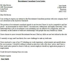 It Consultant Cover Letters Cover Letter To A Job Consultant Download Our Sample Of Recruitment