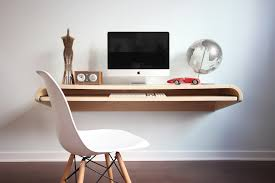 ... Minimal Wall Desk | Rift Oak | Large | Pull-out Shelf | Ideal for ...