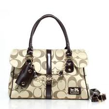 Coach Ring Chain Large Apricot Satchels Fbx Bright Quality