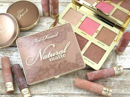 too faced natural face makeup palette natural matte eyeshadow palette review and swatches