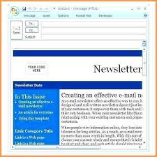 Newsletter Format Examples E Newsletter Template For Outlook Templates Resume Examples