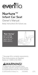 nurture car seat instruction manual
