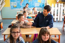 There have been rumours that djokovic's marriage has been in trouble for at least 18 months, with wife jelena's stony face at the us open last summer said to tell its own glum story. How Novak Djokovic Spent A Day With Kids In Medosevac Novak Djokovic Foundation