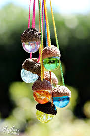 gorgeous homemade gift idea kids can make diy acorn necklaces made with marbles