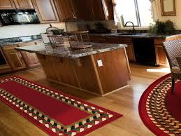 3 piece kitchen rug set red