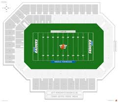 University Of Tennessee Seating Chart Floyd Stadium Middle Tennessee State Seating Guide