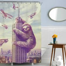 funny shower curtain. Slothzilla Shower Curtain Funny