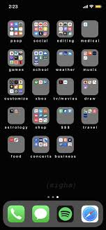 My iPhone home screen layout ...