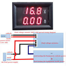 online get cheap digital volt gauge aliexpress com alibaba group 1pc dualled dc 0 100v 10a display voltage meter digital led voltmeter ammeter panel amp