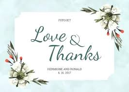 Floral Wedding Thank You Card Template Guest Information