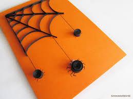 Halloween Spider Card, Quilled Black Spider Web Card, Blank Halloween  Quilling card
