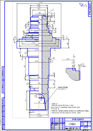 Поиск Клуб студентов Технарь  Ствол бурового вертлюга УВ 250 Чертеж Оборудование для бурения нефтяных и газовых скважин
