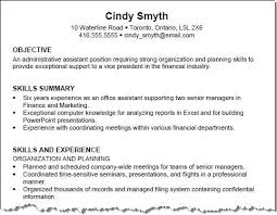 examples of objective for a resume career resume objective summary examples for resume