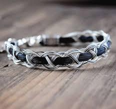 sterling silver horse hair bracelet custom horse hair jewelry horse lover gift equestrian bracelet equestrian jewelry woven bracelet interesting