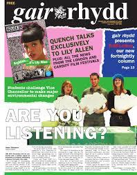 Gair Rhydd Issue 829 by Cardiff Student Media issuu